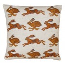 Richard Bramble Hares Linen Cushion limited edition