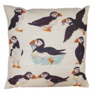 Richard Bramble Puffins Linen Cushion Limited Edition
