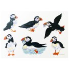 Richard Bramble Puffins LARGE Greeting Card