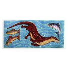Richard Bramble Otter chasing Salmon & Trout Greeting Card