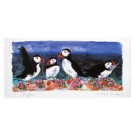 Richard Bramble Puffins on the Rocks Greeting Card