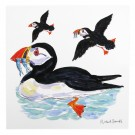 Richard Bramble Puffins at Sea Greeting Card
