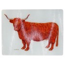 Highland Cow Heatstand and chopping board by Richard Bramble