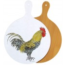 Cockerel melamine board by Richard Bramble