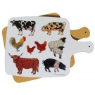 Farmyard Melamine Board by Richard Bramble