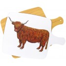 Highland Cow Melamine Boards by Richard Bramble