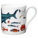 British Marine Species Basking Shark Mug by Richard Bramble right side