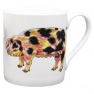 Gloucestershire Old Spot & Saddleback Pig Mug by Richard Bramble