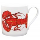 Red Lobster large Bonechina Mug by Richard Bramble