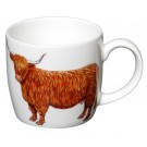 Highland Cow medium size bonechina mug by Richard Bramble