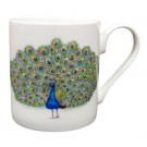 Richard Bramble Peacock Mug (medium straight sided)