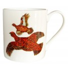 Red Grouse Bonechina Mug by Richard Bramble
