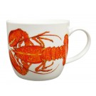 Red Lobster Bonechina Mug by Richard Bramble