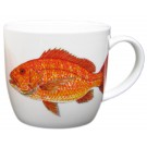 Red Snapper Bonechina Mug by Richard Bramble