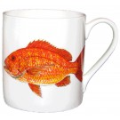Red Snapper large Bonechina Mug by Richard Bramble