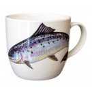 Salmon Mug (medium size) bonechina by Richard Bramble