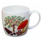 Chocolate & Cocoa Tree Mug (medium size) by Richard Bramble