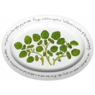 Watercress Oval Plate by Richard Bramble