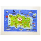 Jersey Island Map Print, Channel Islands by Richard Bramble