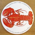Red Lobster Tablemat by Richard Bramble