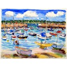 St Aubins Harbour, Jersey, Channel Islands, Original Painting by Richard Bramble