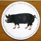 Berkshire Pig Tablemat by Richard Bramble