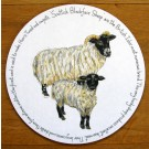 Blackface Sheep Tablemat by Richard Bramble