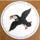 Puffin Flying Tablemat, melamine, corked back, by Richard Bramble