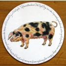 Gloucestershire Old Spot Pig Tablemat by Richard Bramble