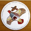 Grey Partridge Tablemat by Richard Bramble