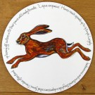 Hare leaping Tablemat by Richard Bramble