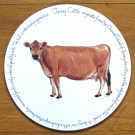 Jersey Cow Tablemat by Richard Bramble