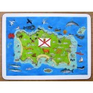 Jersey Map Tablemat by Richard Bramble