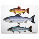 Salmon & Trout  Large Tablemat by Richard Bramble