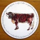 Longhorn Cow Tablemat by Richard Bramble