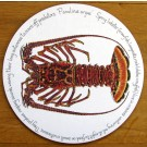 Spiny Lobster (Crawfish, Crayfish, Langouste) Tablemat by Richard Bramble