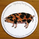 Oxford Sandy Black Pig Tablemat by Richard Bramble