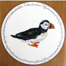 Puffin Walking Tablemat, Melamine surface, corked backed by Richard Bramble
