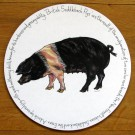 British Saddleback Pig Tablemat by Richard Bramble