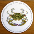 Blue Crab Tablemat by Richard Bramble