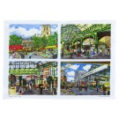 Richard Bramble Borough Market (4 views) Tea Towel