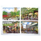 Borough Market Tea Towel (4 views) by Richard Bramble