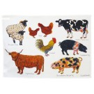 Richard Bramble Farmyard Tea Towel
