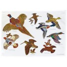 Richard Bramble Gamebirds Tea Towel