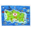 Richard Bramble Jersey Map Tea Towel