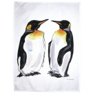 King Penguin Tea Towel by Richard Bramble