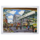 Borough Market Tea Towel by Richard Bramble