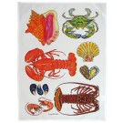 Richard Bramble North American Shellfish Tea Towel