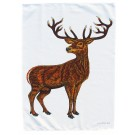 Richard Bramble Stag Tea Towel