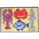 Turtle Mat - Lobster Yellow Design